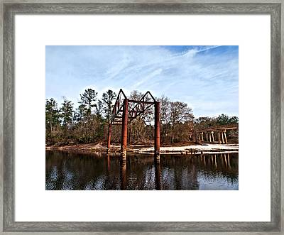Framed Print featuring the photograph Swing Set by Laura Ragland