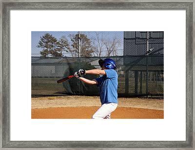 Swing That Bat Framed Print by Carolyn Ricks