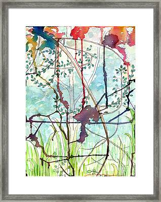 Swing Uphill Abstract Framed Print