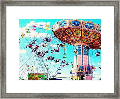 Swingers Have More Fun Framed Print by Beth Saffer