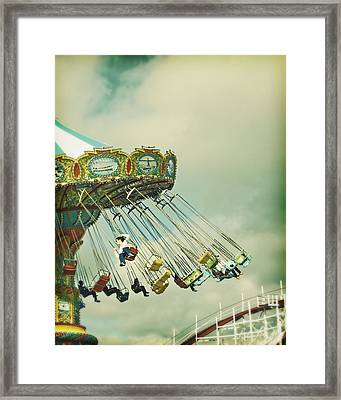 Swingin' - Santa Cruz Boardwalk Framed Print