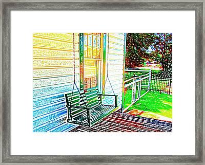 Swingin' Framed Print by Steve C Heckman