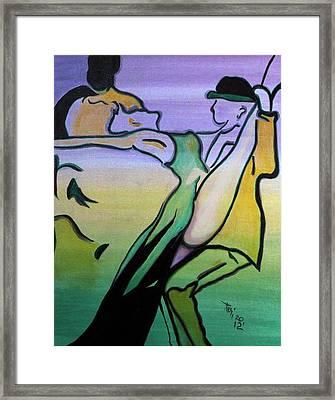 Swingin Framed Print by Teri Howard Stewart