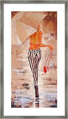 Swingin Two Framed Print by Laura Lee Zanghetti