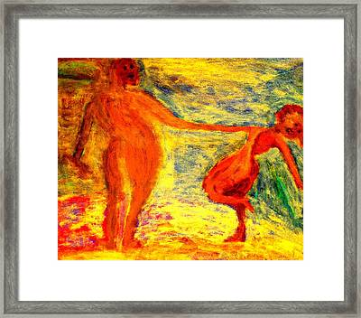 We Were Swinging At The Club All Night But The Next Day We Were Like Strangers  Framed Print