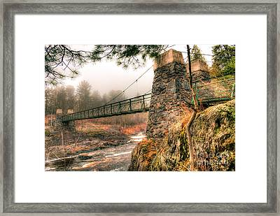 Framed Print featuring the photograph Swinging Bridge Before The Storm by Mark David Zahn Photography