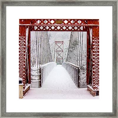 Swinging Bridge Framed Print