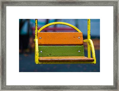 Swinging Rain - Featured 3 Framed Print