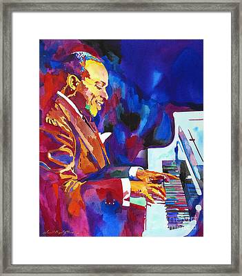 Swinging With Count Basie Framed Print by David Lloyd Glover