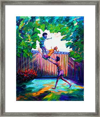 Swinging With Friends Framed Print by Naomi Gerrard