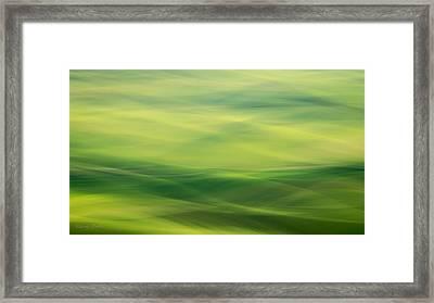 Swipe Of Palouse Rolling Hills Framed Print