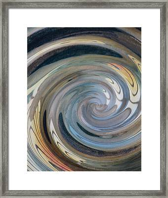 Framed Print featuring the photograph Swirl by Diane Alexander