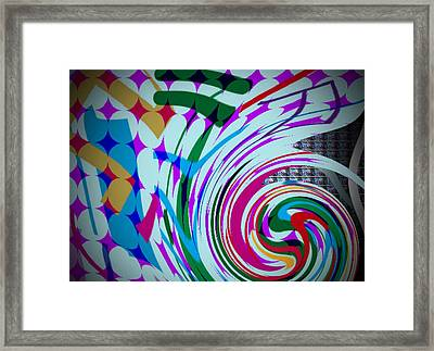 Swirl Framed Print by Kelly McManus