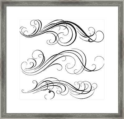 Swirl Framed Print by Mashuk