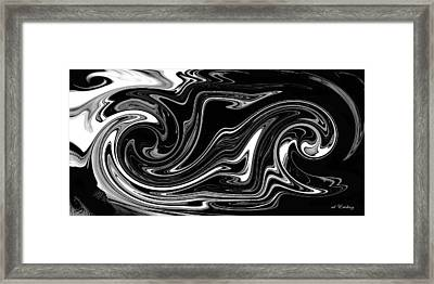 Framed Print featuring the digital art Swirl Of Everything And Nothing by rd Erickson