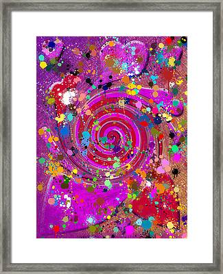 Swirl Of Hearts  Framed Print by Tommytechno Sweden