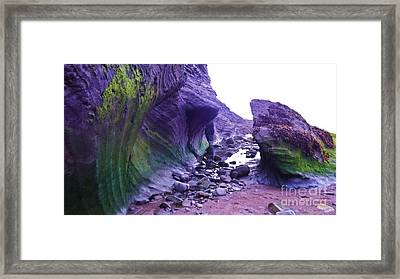Framed Print featuring the photograph Swirl Rocks by John Williams