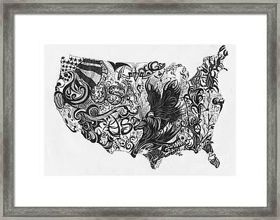 Swirlin Usa Framed Print