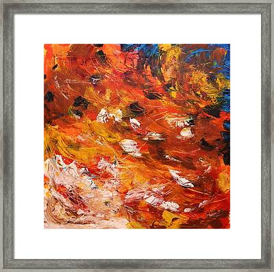Framed Print featuring the painting Swirling And Dancing by John Williams