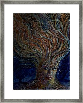 Swirling Beauty Framed Print