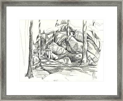Swirling Cast Shadows At Elephant Rocks  No Ctc101 Framed Print by Kip DeVore