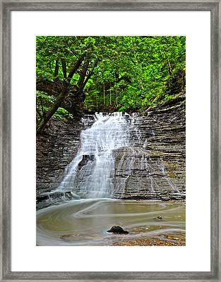 Swirling Falls Framed Print by Frozen in Time Fine Art Photography