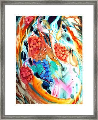 Swirling Grapes Framed Print