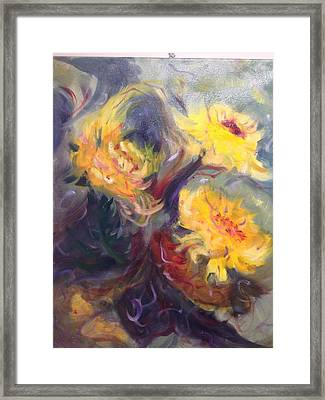 Swirling In Sun Framed Print