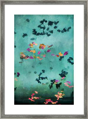 Swirling Leaves And Petals 1 Framed Print by Scott Campbell