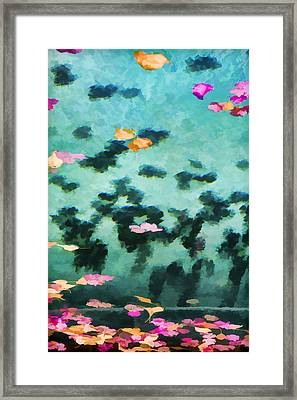 Swirling Leaves And Petals 2 Framed Print