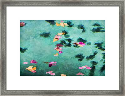 Swirling Leaves And Petals 3 Framed Print by Scott Campbell