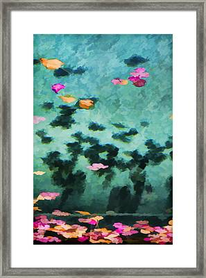 Swirling Leaves And Petals 4 Framed Print by Scott Campbell