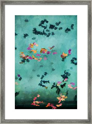 Swirling Leaves And Petals 5 Framed Print