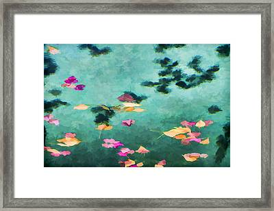 Swirling Leaves And Petals 6 Framed Print by Scott Campbell
