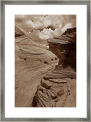 Swirling Ledge Framed Print