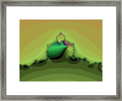 Swirling Peaks Framed Print