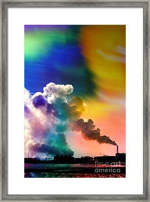 Swirling Framed Print