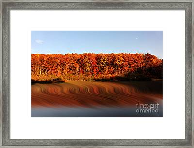 Swirling Reflections With Fall Colors Framed Print by Dan Friend