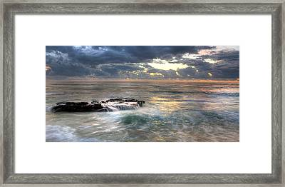 Swirling Seas Framed Print by Peter Tellone