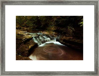 Swirling Water Framed Print