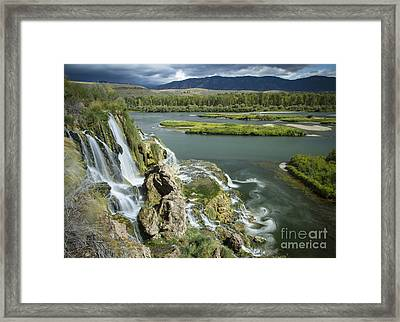 Swirling Waters Framed Print by Idaho Scenic Images Linda Lantzy