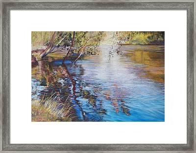 Swirls And Ripples - Goulburn River Framed Print by Lynda Robinson