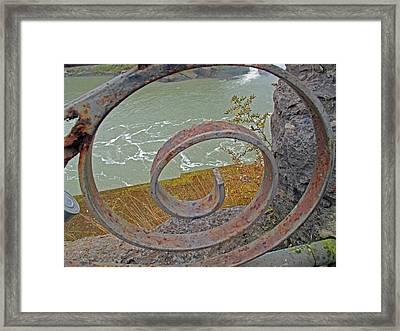 Swirls Framed Print by Barbara McDevitt