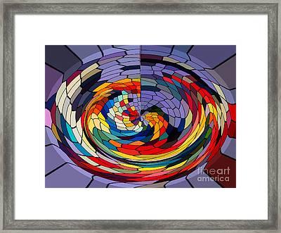 Swirls Framed Print by Gabriele Mueller
