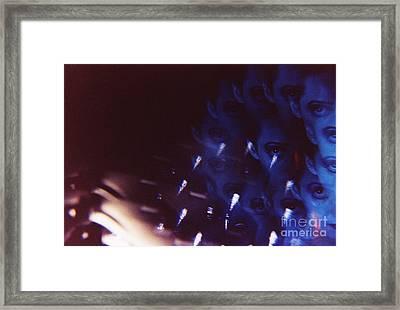 Swirls In Dark - Fine Art Analog 35mm Film Photographic Portrait Framed Print by Edward Olive