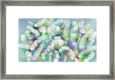 Swirls N Curls Framed Print