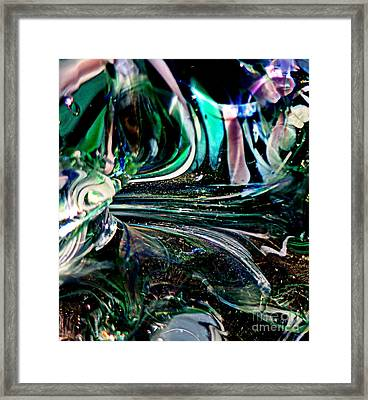 Swirls Of Color And Light Framed Print by Kitrina Arbuckle