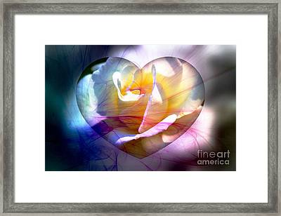 Swirls Of Love And Hope Framed Print