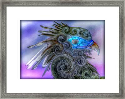 Swirly Bird Framed Print by Terry Atkins