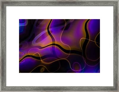 Swirly Bits Framed Print